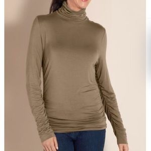 Soft Surroundings Tops - Soft Surroundings Great Shape Turtleneck Ruch Top